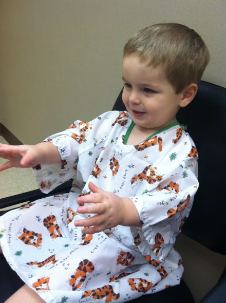 Toddler hospital gowns: Equally parts cute and sad.