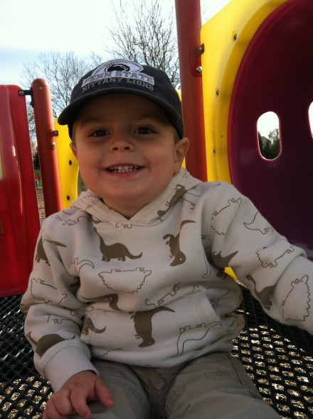 Taken during the happiest four minutes you've ever seen on a playground.