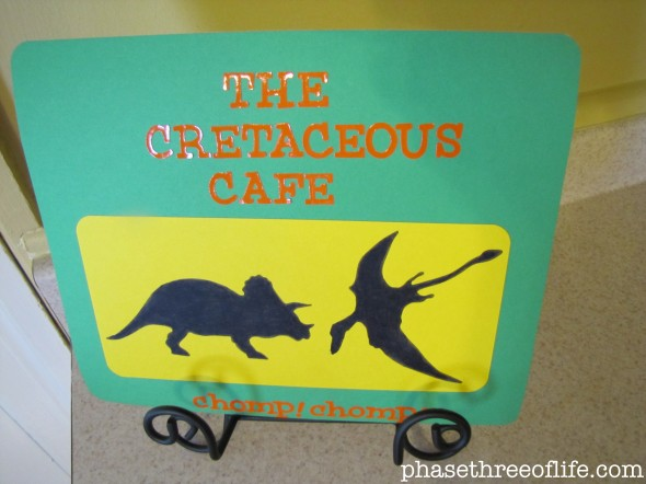 cretaceous cafe sign