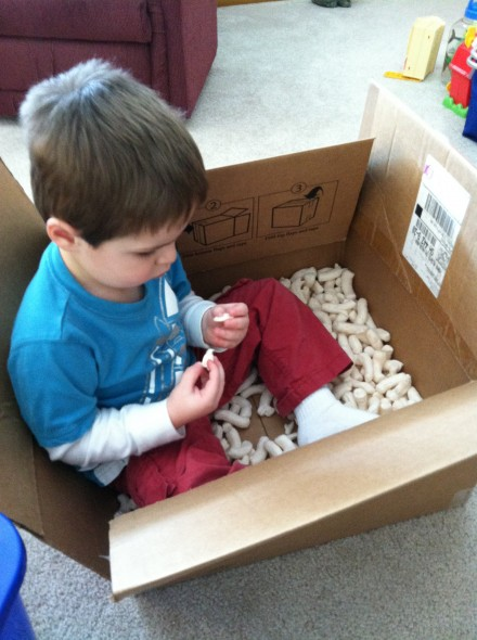 Another variation: Box of packing peanuts.