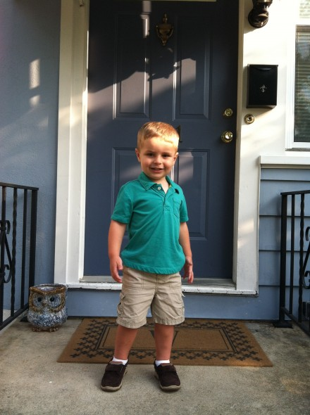First day of preschoolSeptember, 2013